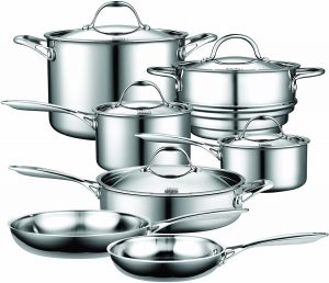 Stainless Steel Layered Cookware Set