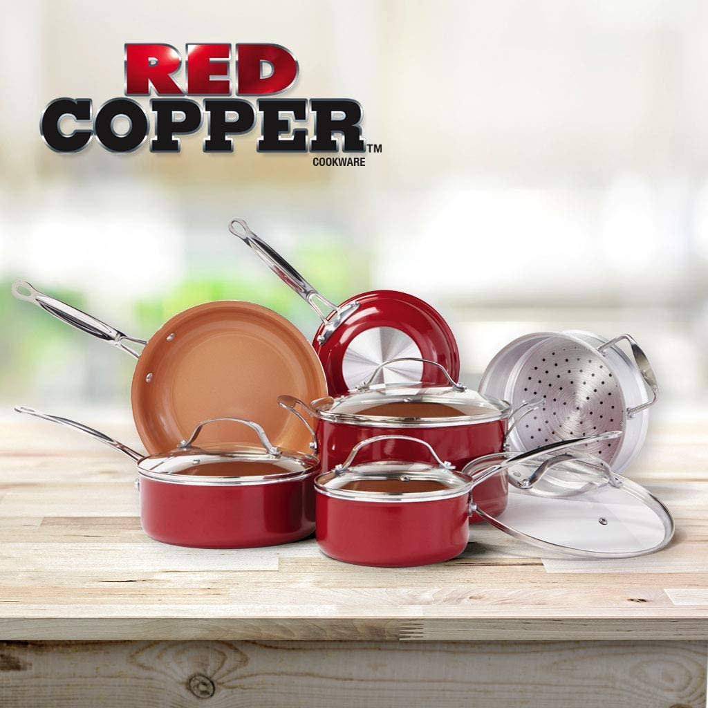 red copper grill pan